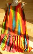 Canadian wholesaler supply sleeveless summer tie-dye dress
