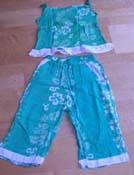Wholesale gifts clothing shop online supply chidren summer pant and top set, rayon clothing